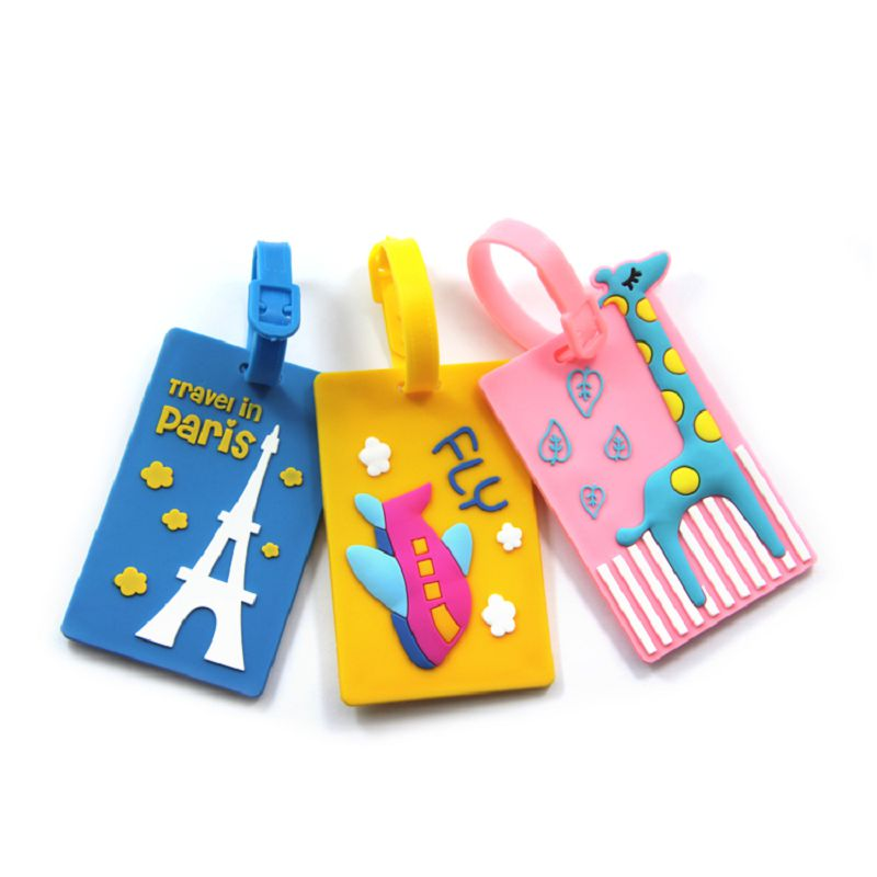 3d Soft Pvc Luggage Tag Custom